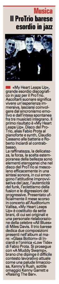 """""""La Gazzetta del Mezzogiorno"""" Bari, 01-02-2016"""