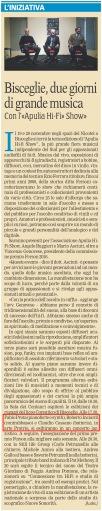 """""""La Gazzetta del Mezzogiorno"""" Nord Barese, 16-11-2016"""