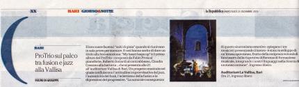 """""""La Repubblica"""" Bari, 23-12-2015"""