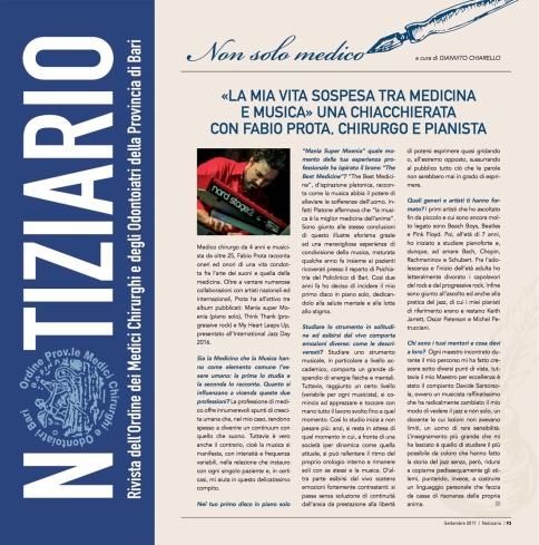 """""""Notiziario OMCEO"""" Bari, 20-09-2017"""