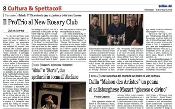 """""""Quotidiano di Bari"""", 14-12-2016"""