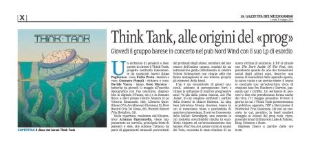 """""""La Gazzetta del Mezzogiorno"""" Bari, 08-05-2017"""