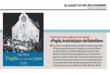 """""""La Gazzetta del Mezzogiorno"""" Bari, 02-02-2018"""