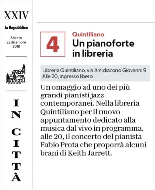 """""""La Repubblica"""" Bari, 22-12-2018"""